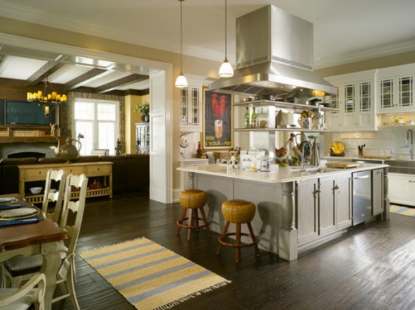 Traditional Luxury House Plans in New England - Kitchen