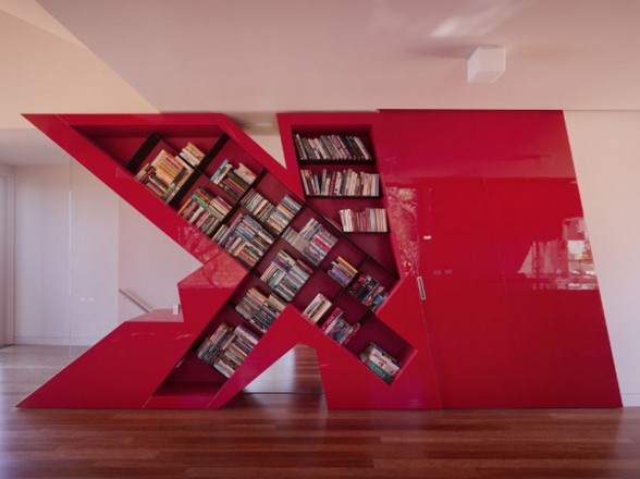 Unique Beach House Design, The K House - Library