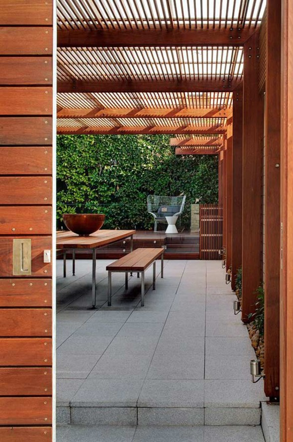 Wood Interiors and Exterior in Warmth Home Architecture - Terrace