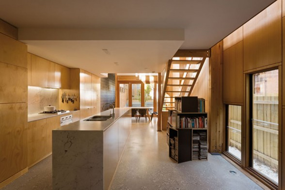 Wooden and Contemporary Australian Eco-House Design - Kitchen