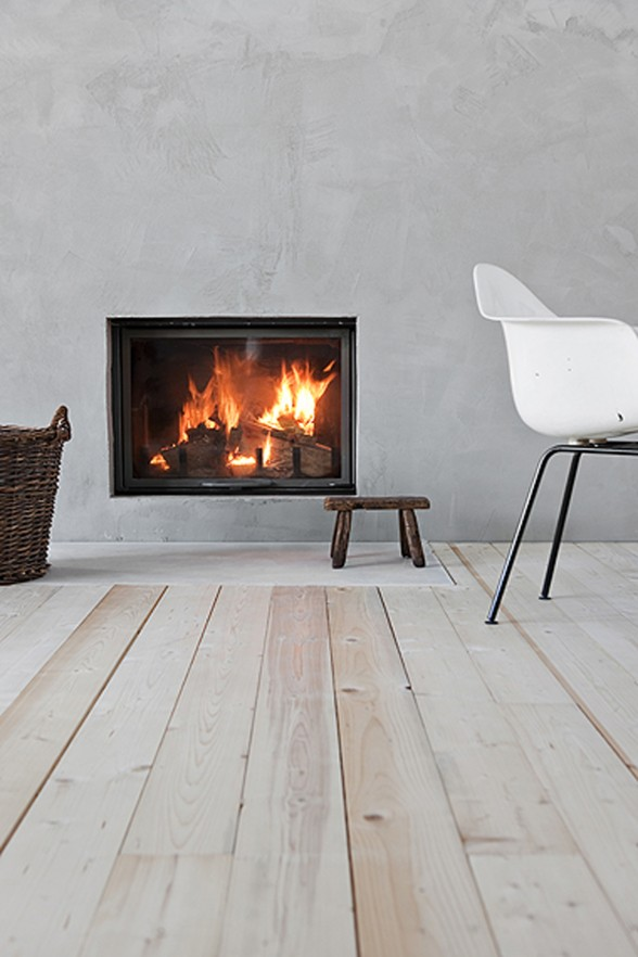 Countryside Winter House Interior Design from Ulla Koskinen - Fireplace