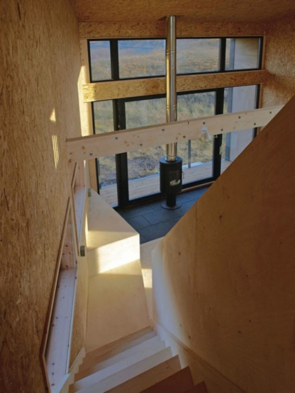 Fiscavaig Holiday House, Scottish Small House Design - Staircase