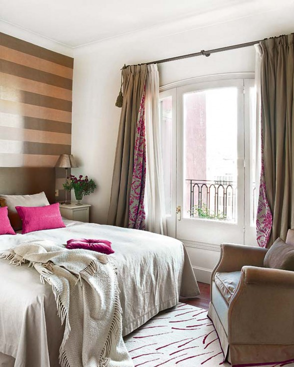 French Ethnic Style Apartment Ideas, Charming Design in Barcelona - Bedroom