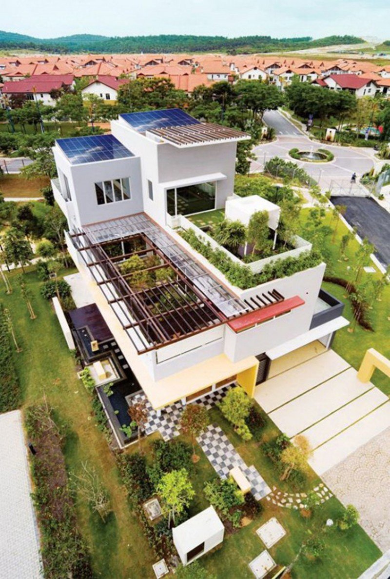 Great Tropical Houses In Urban Environment, Eco Friendly Home Design In Malaysia