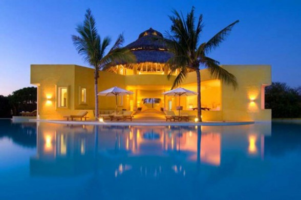 Great Villa Design in Mexico Beach, Most Beautiful Villa Architecture - Architecture