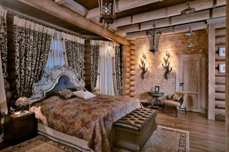 Huge Russian Siberian House Design, Fairy Tales Dream Homes   Bedroom