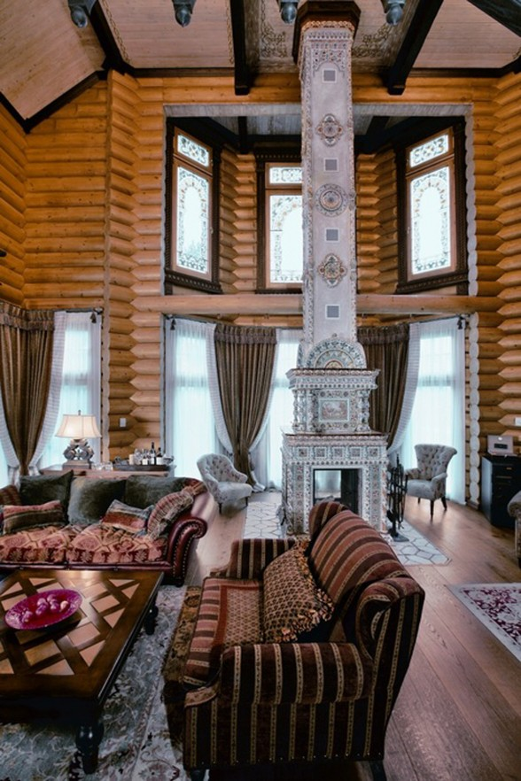 Huge Russian-Siberian House Design, Fairy Tales Dream Homes - Living room