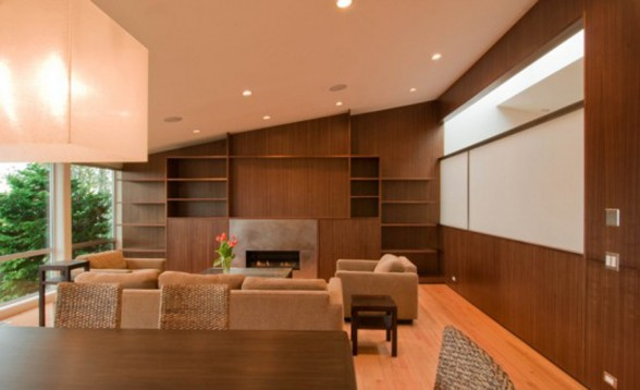 Humble Contemporary Home Design, A Renovated House Architecture - Living room