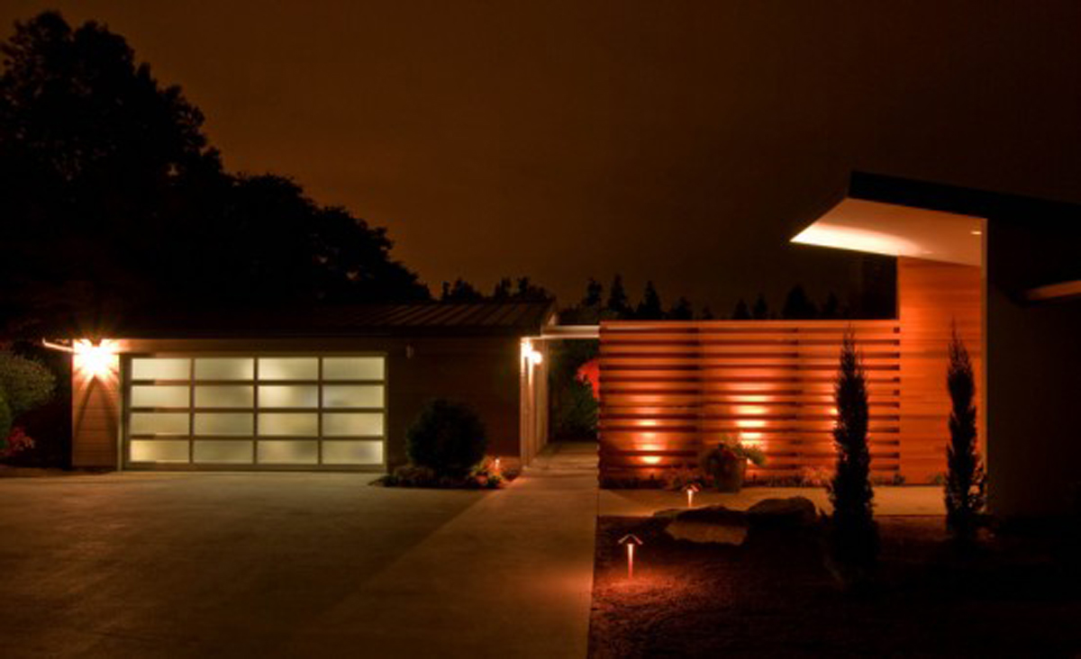 Humble Contemporary Home Design, A Renovated House Architecture - Night View