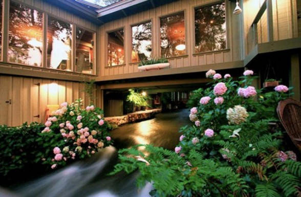 Kaweah Falls, A Rustic House Plans with Modern Design - Garden
