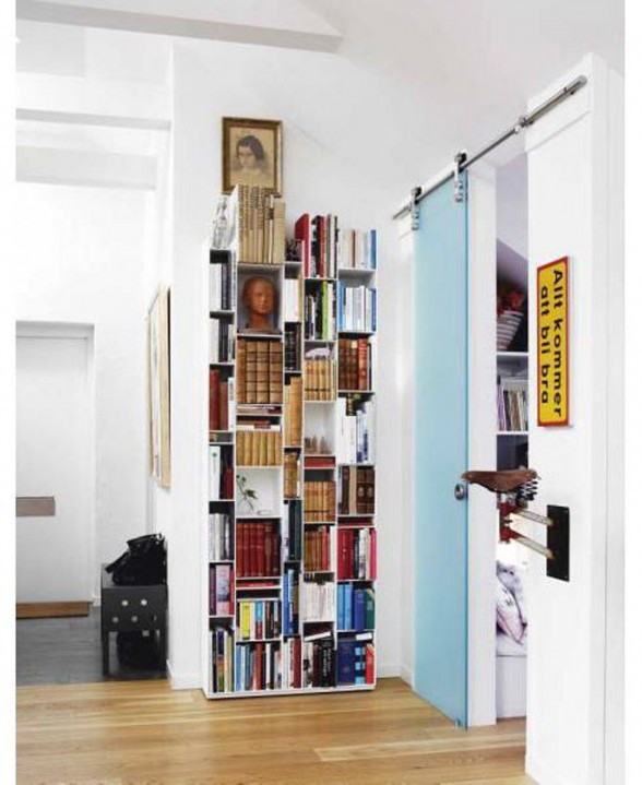 Maria Adlersson's Apartment, Swedish Ideas for Your Flat - Library