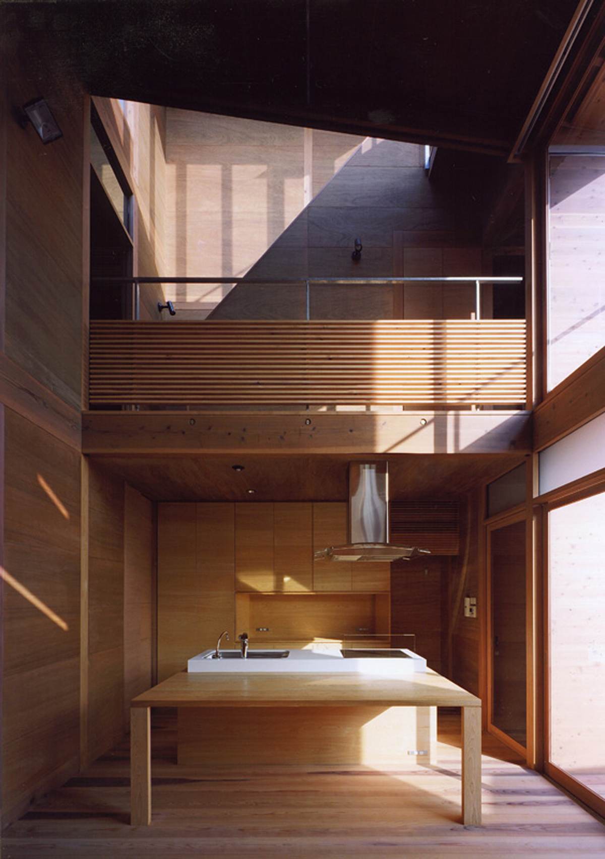 Modern Wooden House From Japanese Architect Kitchen