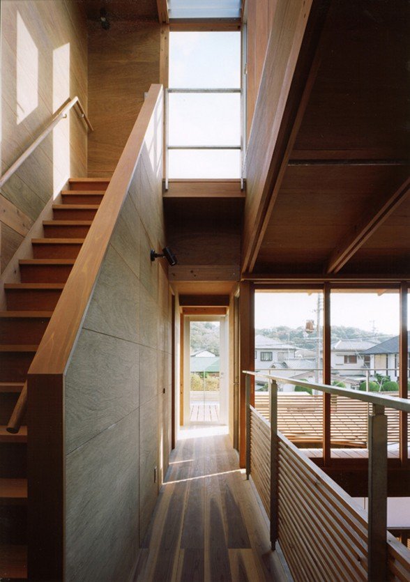 Modern Wooden House from Japanese Architect - Staircase