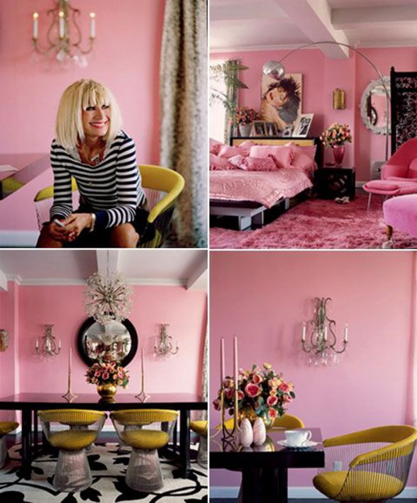 Pink Apartment, Great Ideas from Betsey Johnson