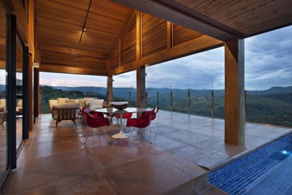 Rock and Wood Combination, Mountain House from David Guerra Architecture - Terraces