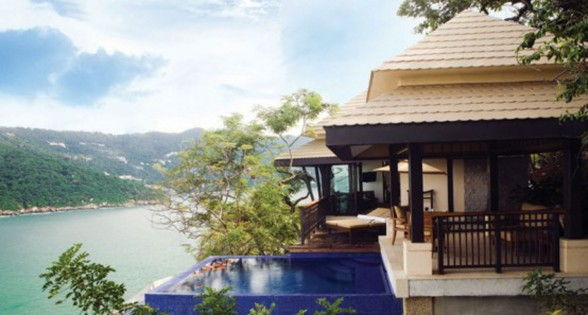 Romantic View in Cliff-Side Villa of Banyan Resort Mexico