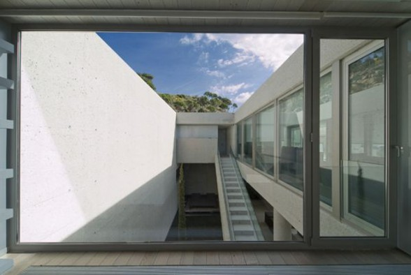 Solid House Architecture, Awesome Home for Holiday in Spain - Windows