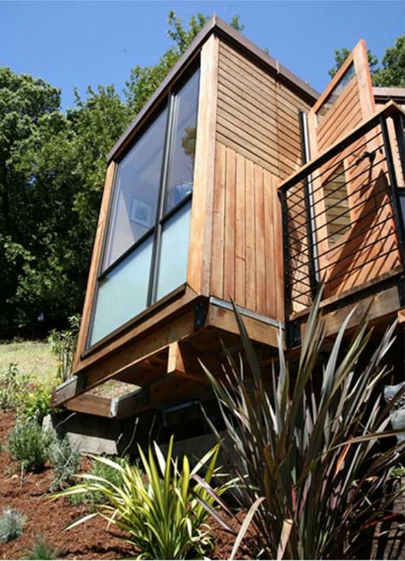 Sustainable Small House with Modern Design and Wooden Finishing - Windows
