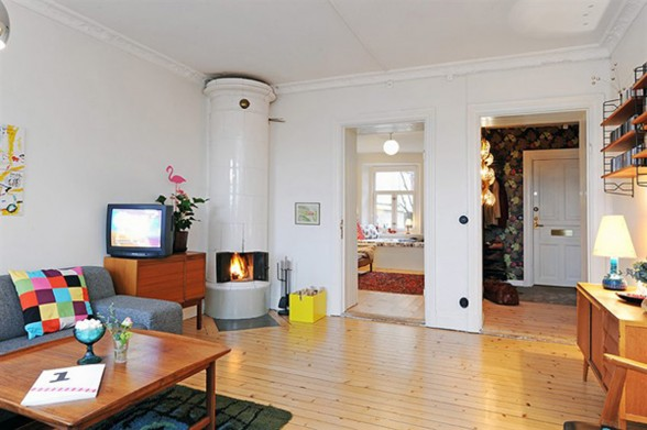 Three Rooms Apartment Diverse with Homey Interior - Fireplace