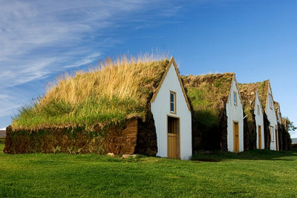 Traditional Icelandic House, Beautiful Green Building - Architecture