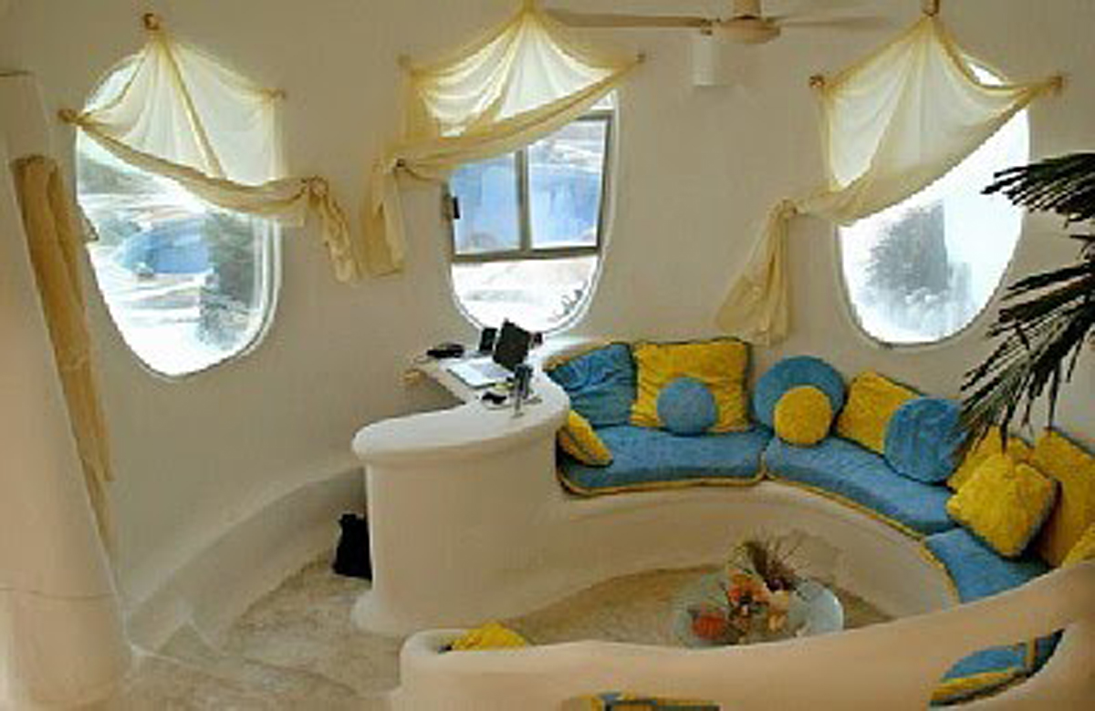 Superior Unique House Design, The Conch Shell House   Living Room