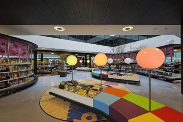 Almere New Library, Great Building from Concrete Architectural Associates Netherlands - Rest Area