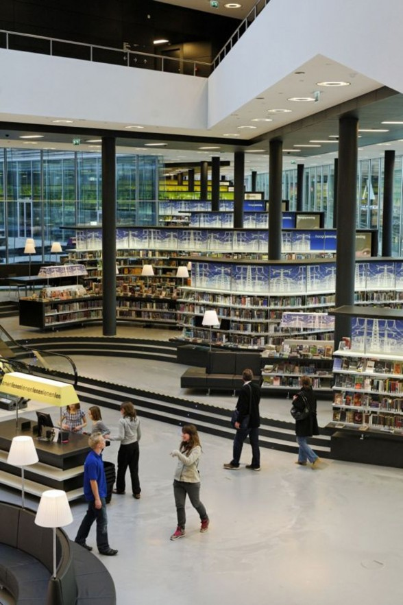 Almere New Library, Great Building from Concrete Architectural Associates Netherlands - Visitors