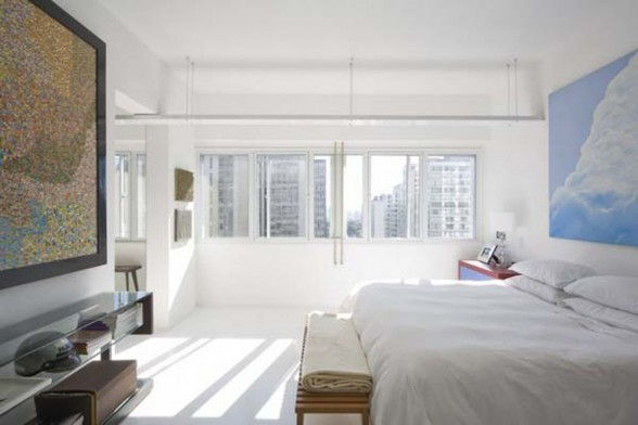 Contemporary Meet Modern in Brazilian Apartment Design - Bedroom
