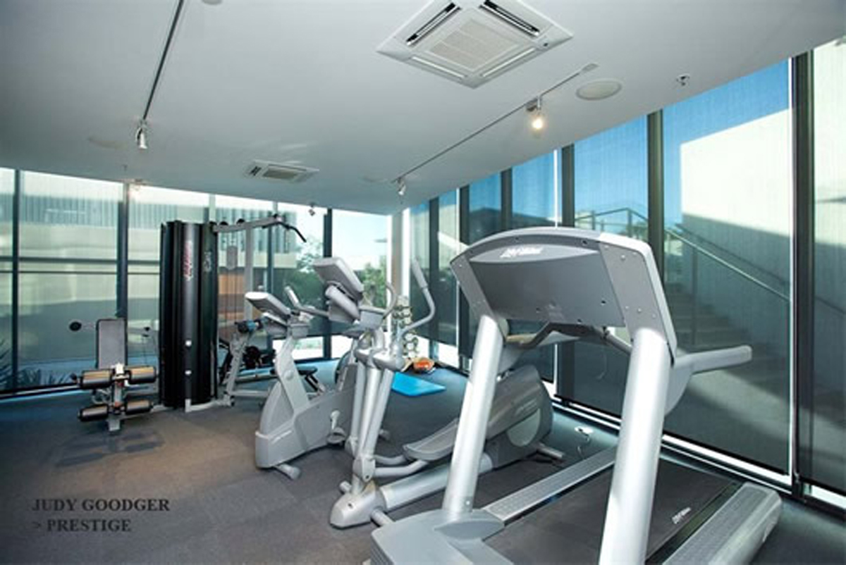 Executive Living Space, Dream Contemporary Apartment Design by Judy Goodger - Gym Facilities