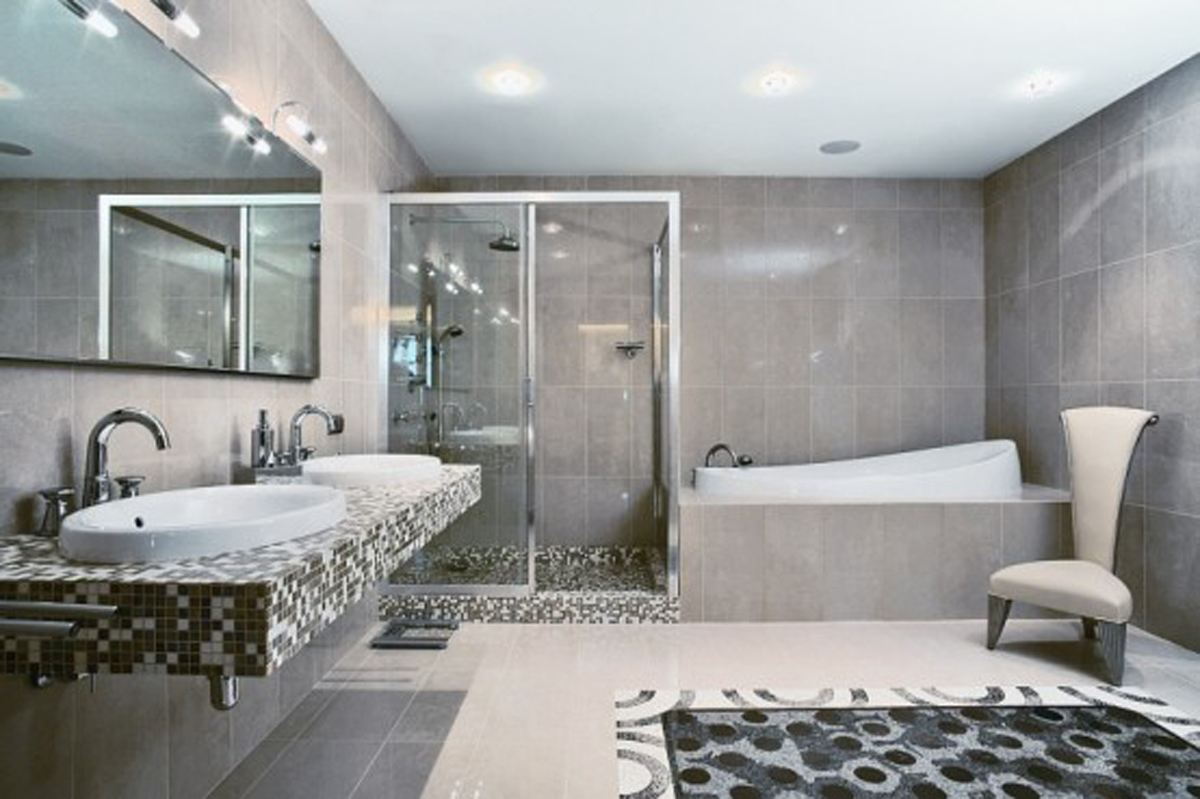 Exotic African Style Interior in Large Apartment Ideas - Bathroom