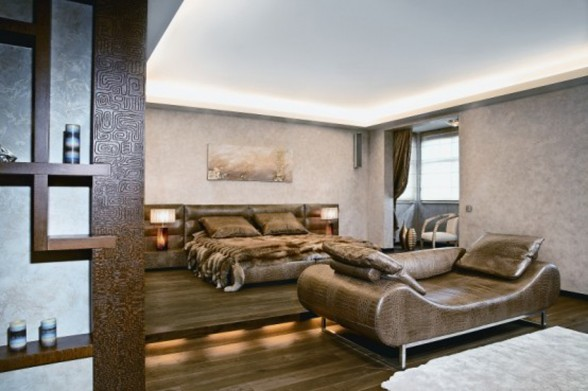 Exotic African Style Interior in Large Apartment Ideas - Bedroom