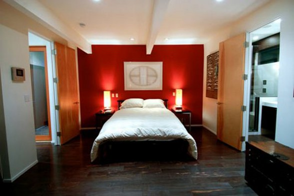 Green Environment House in Hollywood Hills, a Michael Parks Design - Bedroom