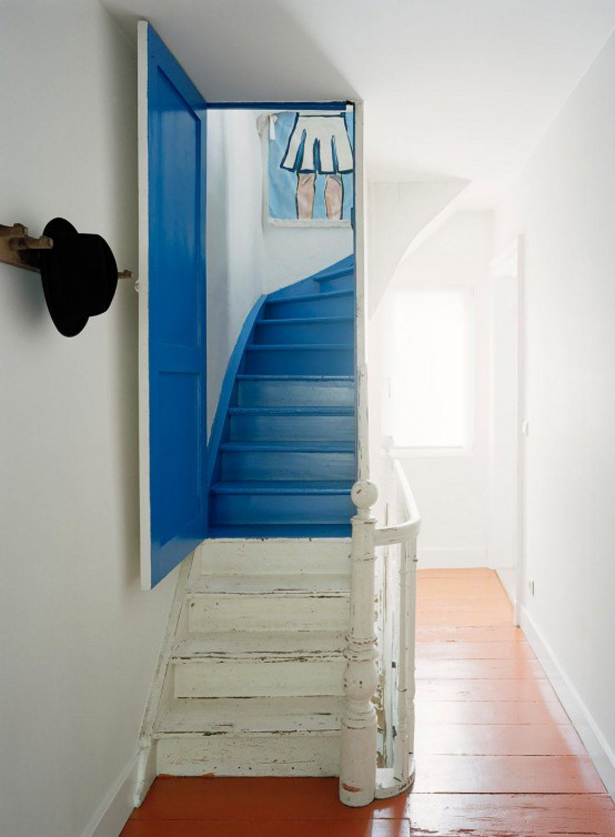 Half Parts of Old House Renovated into Modern Style Architecture - Staircase