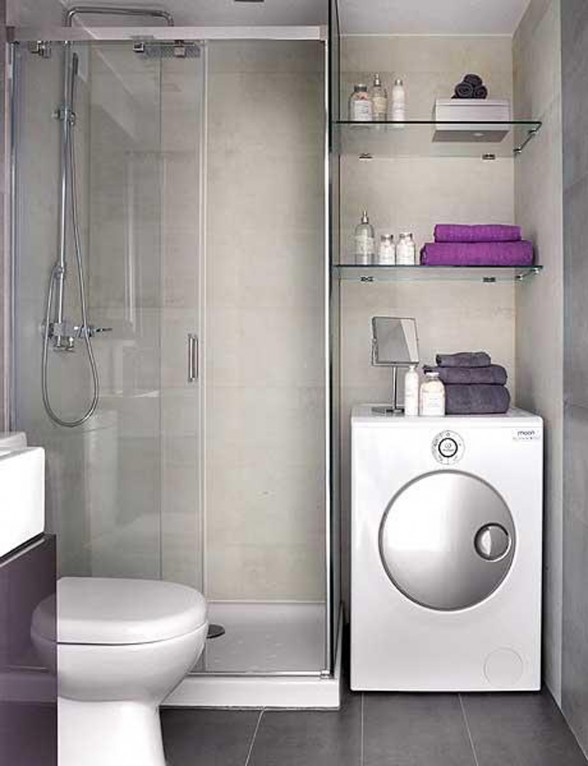 Intrinsic Interior Design Applied in Small Apartment Architecture - Washing Machine