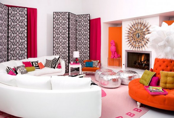 Malibu Dream House, Cute Barbie Themes Home Design - Living Room