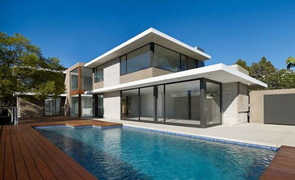 Modernity and Luxurious House Design in Exquisite Residence, the Evans House - Pool