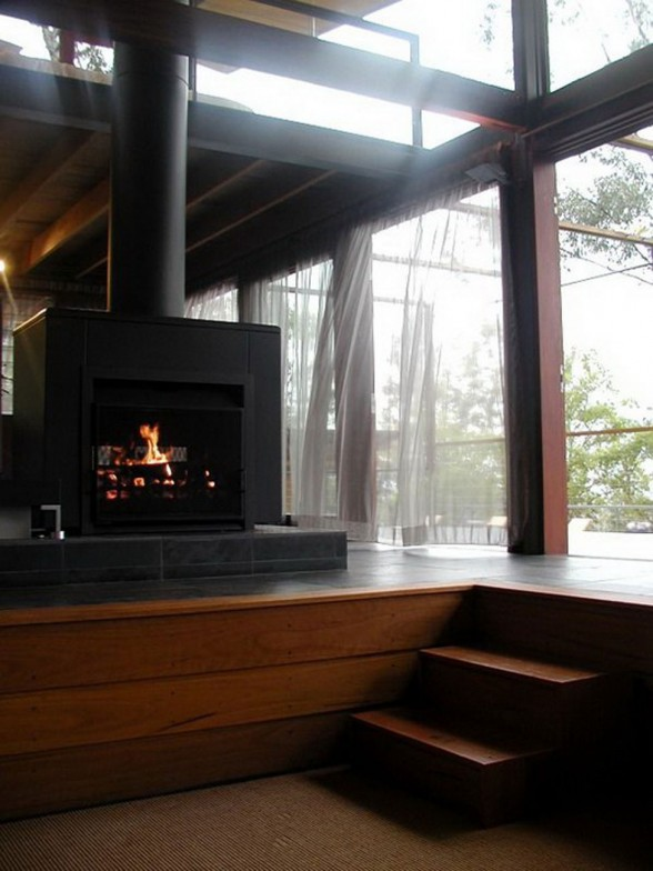 Airy Mountain House Inspiration from CplusC Architecture - Fireplace