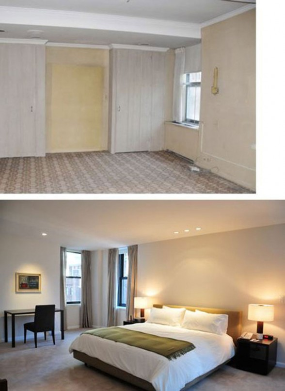 Before and After Pictures, Renovated Contemporary Apartment by Estudio Ramos Architect - Bedroom
