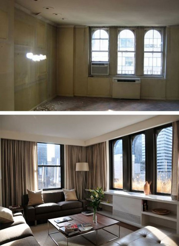Before and After Pictures, Renovated Contemporary Apartment by Estudio Ramos Architect - Livingroom