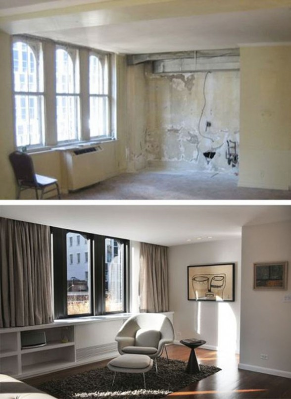 Before and After Pictures, Renovated Contemporary Apartment by Estudio Ramos Architect - Reading Desk