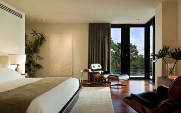 Complexity Geometry Architecture in A Huge Modern House - Bedroom