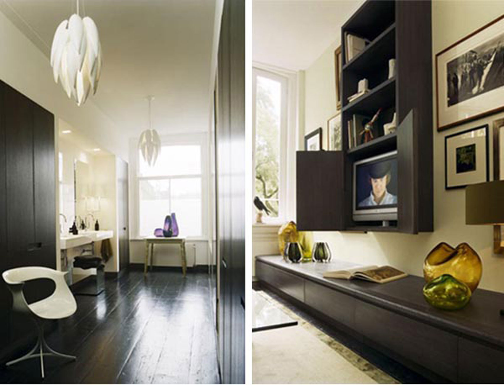 Contemporary Design and Dark Interior in Apartment Ideas by Kate ...