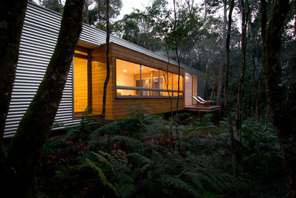 Contemporary Forest Residence Design, The Sao Chico Retreat