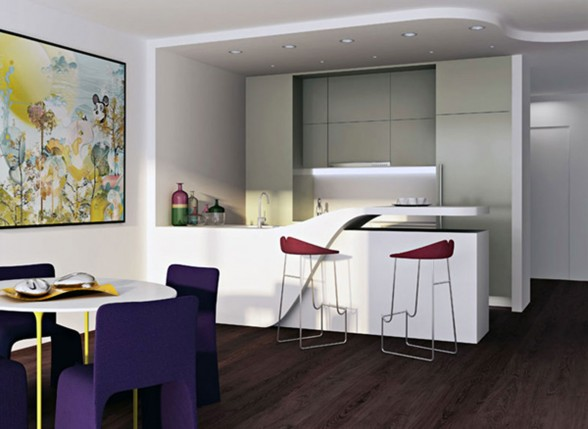 Dutch Architect Loft Design, Modern Rooftop Living Place - Dining Room