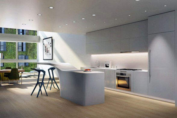 Dutch Architect Loft Design, Modern Rooftop Living Place - Kitchen