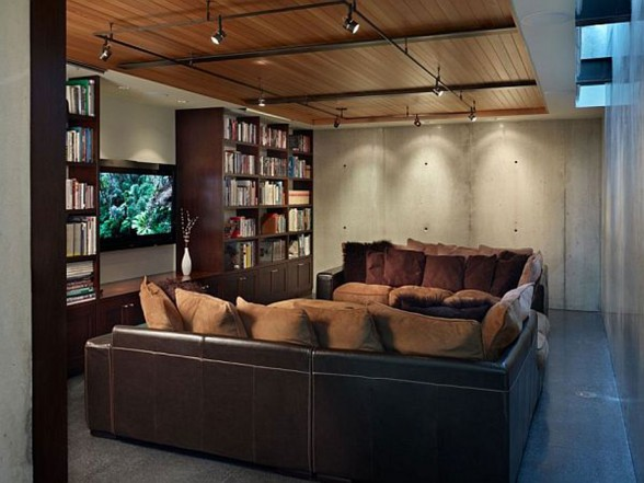 Elegance Contemporary House from Lawrence Architecture - Livingroom