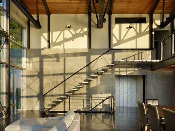 Elegance Contemporary House from Lawrence Architecture - Staircase