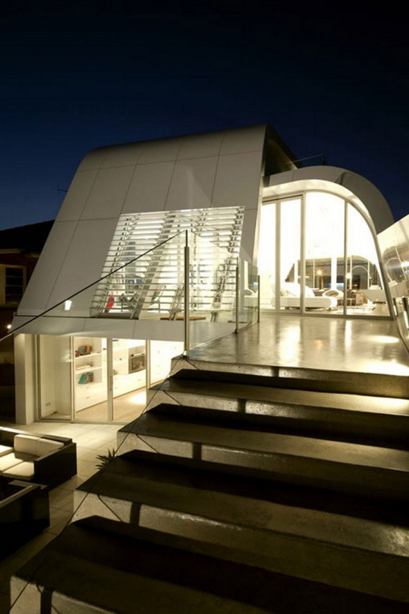 Future House Concept, Moebius House from Tony Owen Partners - Staircase