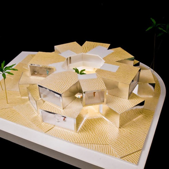 Futuristic Cubed Architecture - Two Storey