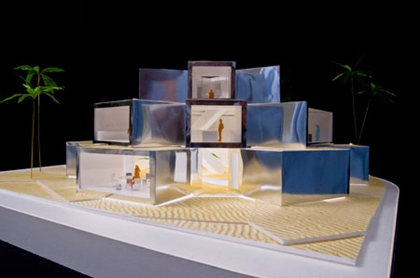 Futuristic Cubed Architecture for Ordos 100 from Julian De Smedt Architect - Miniature